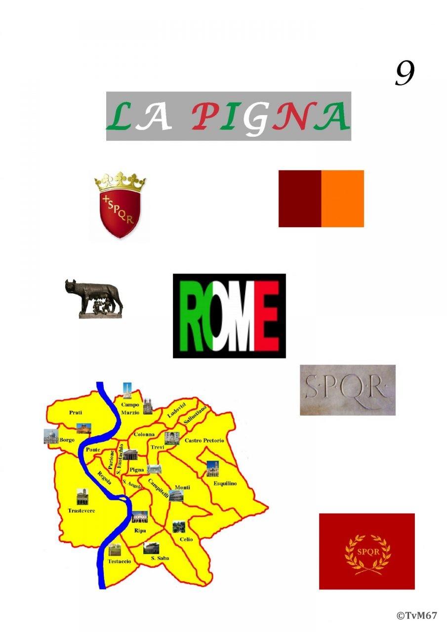 aaaRoma, Rione della Pigna IX, voorblad