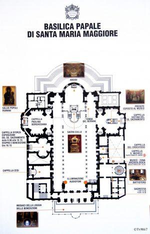 Roma, plattegrond Basilica di Santa Maria Maggiore